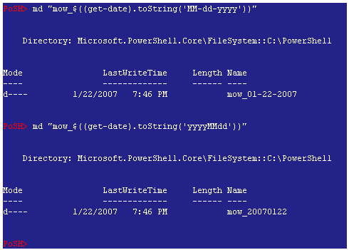 how to create a new powershell object