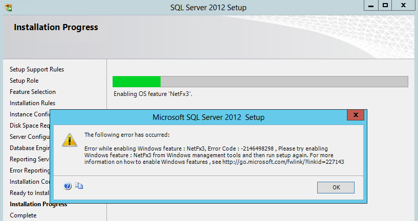 Installing NetFx3 feature on Windows Server 2012