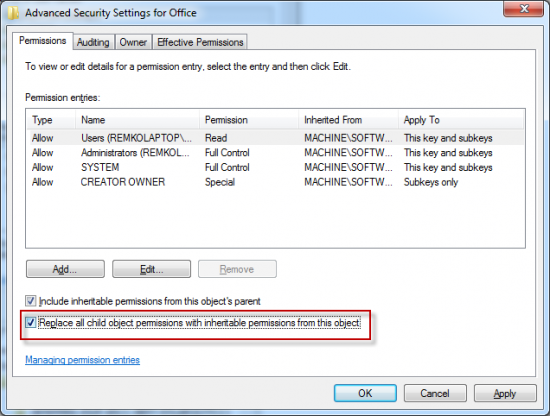 how to delete microsoft office 2013 from registry