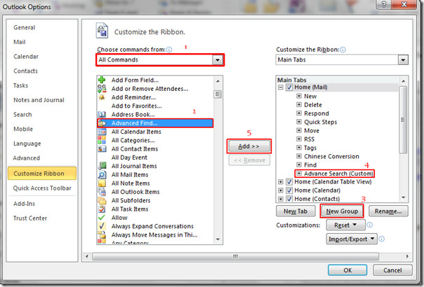 Enable Query Builder In Any Edition Of Microsoft Outlook