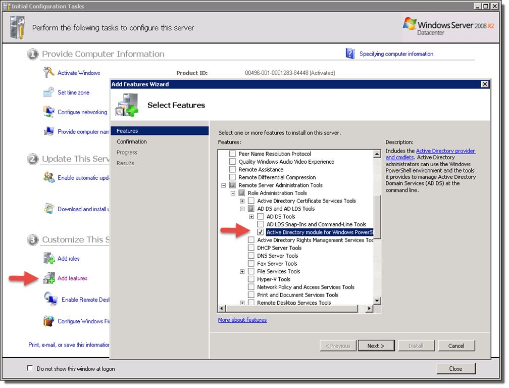 Add active directory module in powershell in windows 7 8 heelpbook - Installer console active directory windows 7 ...