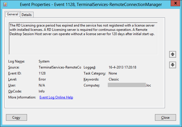 Reset terminal license on windows r and