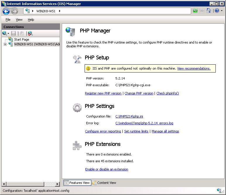 iis 8 php  windows