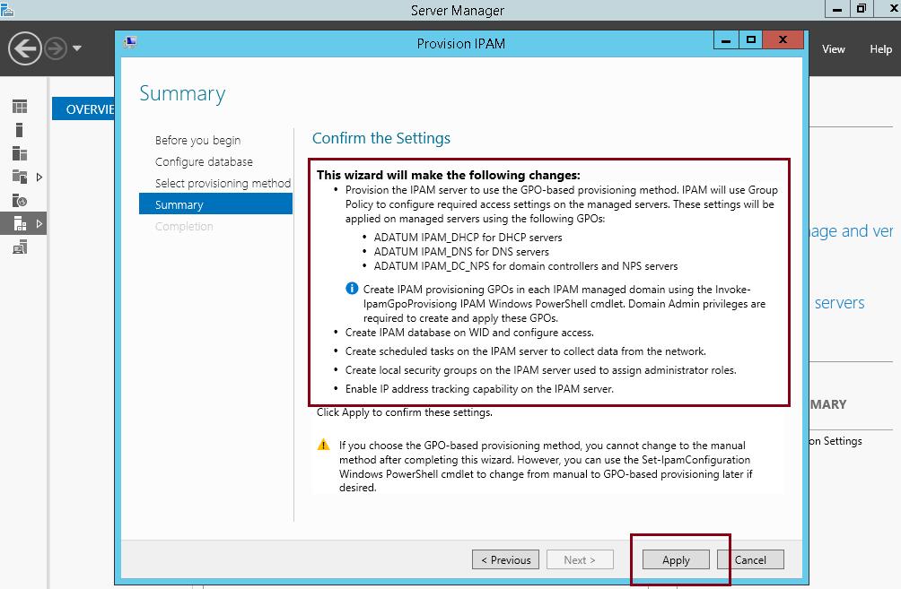 Implementing Configuring Ipam In Windows Server 2012 R2 Heelpbook