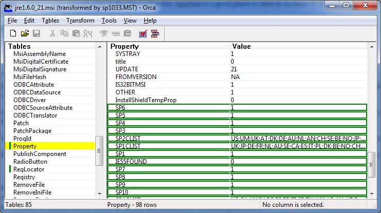 Microsoft Orca – Editing MSI files – HeelpBook