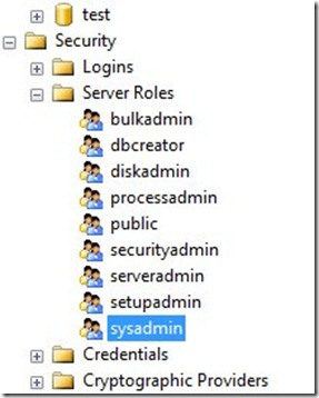 Add User to Sysadmin Role Without Having Permissions on SQL Server