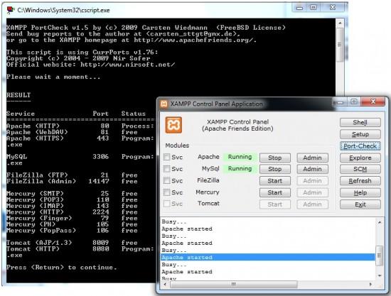 XAMPP non riesce ad avviare Apache