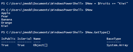 Powershell - arrays and collections's iteration