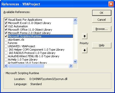 FileSystemObject on VBA