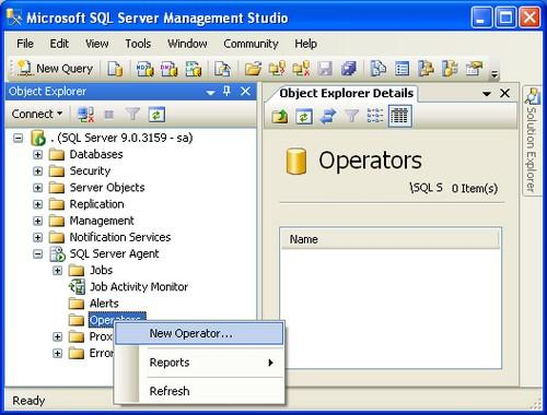 Setup SQL Server alerts and email operator notifications