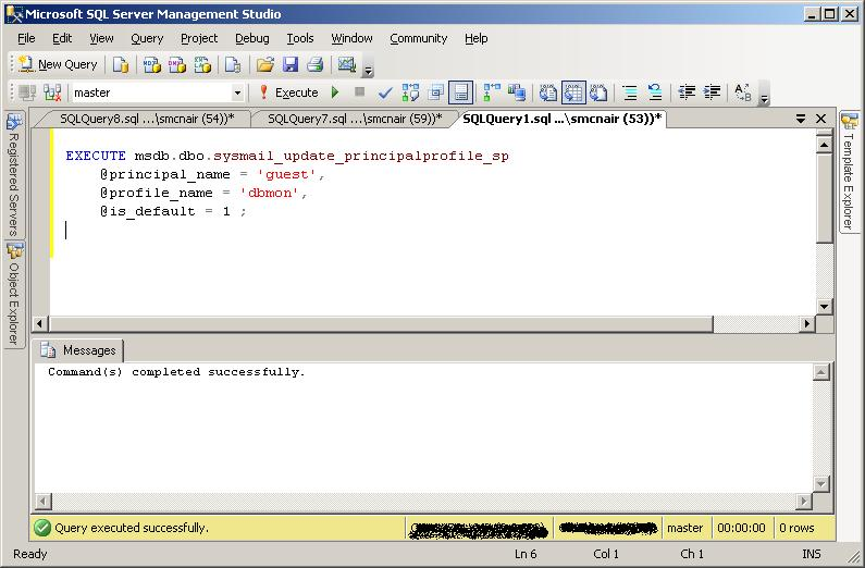 Configure the Global Profile in Database Mail