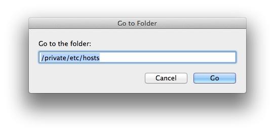Edit the Hosts File on Mac OS X