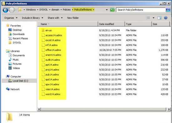 Adding ADMX files Administrative Templates into GPMC (Active Directory)