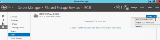 Configure iSCSI SAN in Server 2012 R2
