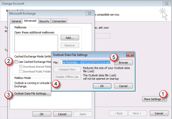 Change Location Outlook Data File (.ost) (Microsoft Outlook)