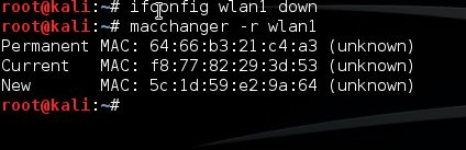 MAC address spoofing with Macchanger (Kali Linux)