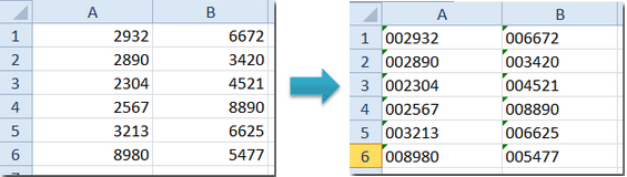 Add/Insert Leading Zeros To Numbers Or Text (Microsoft Excel)