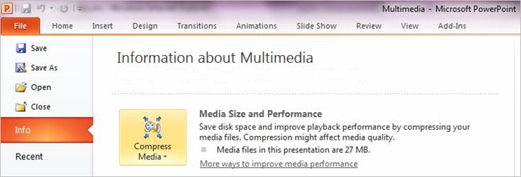 Quickly reduce PowerPoint file size