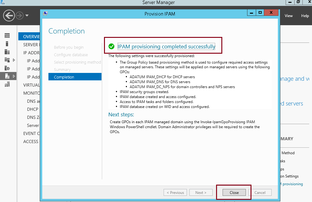 Implementing & Configuring IPAM in Windows Server 2012 R2
