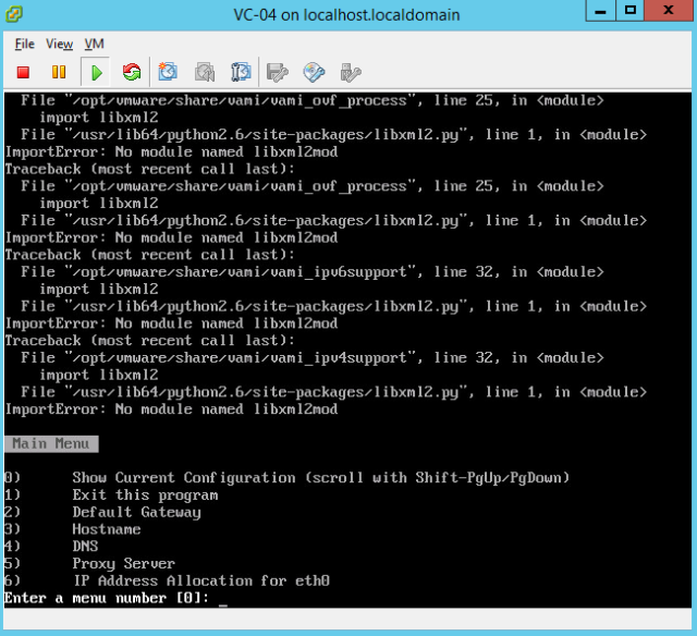 VMware - Change vCenter VCSA Network Configuration