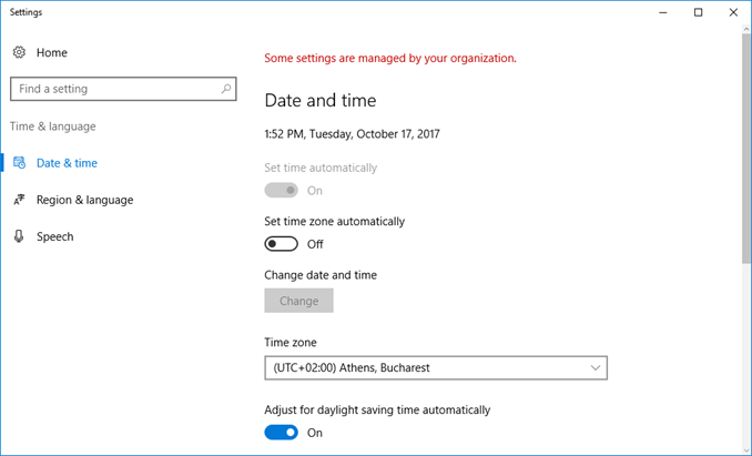 Changing the Timezone (Microsoft Windows)