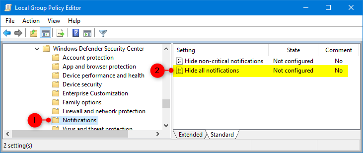 Windows 10 - Disable Notifications and Notifications Balloons