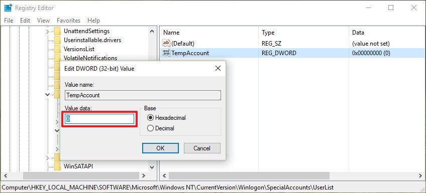 Windows 10 - Hide specific User Accounts from the Logon Screen